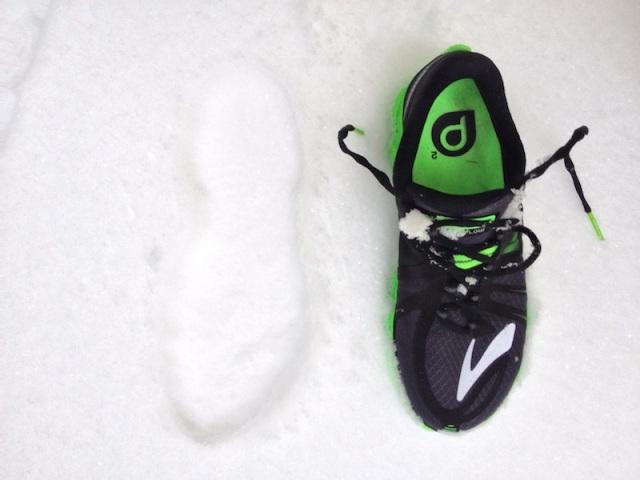 Après 18 bornes dans la neige !