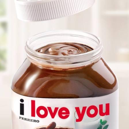 Dis je t'aime avec ton pot de Nutella !