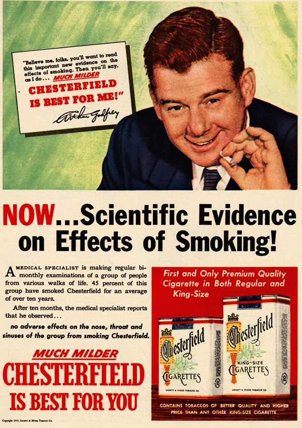 Scientific evidence of no effects of smoking !!!