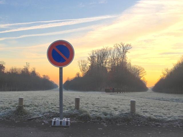 Parc de Saint-Cloud au petit matin ...