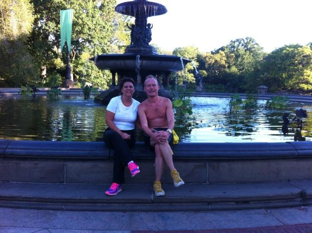 Deux amoureux un peu moites à Manhattan :-)