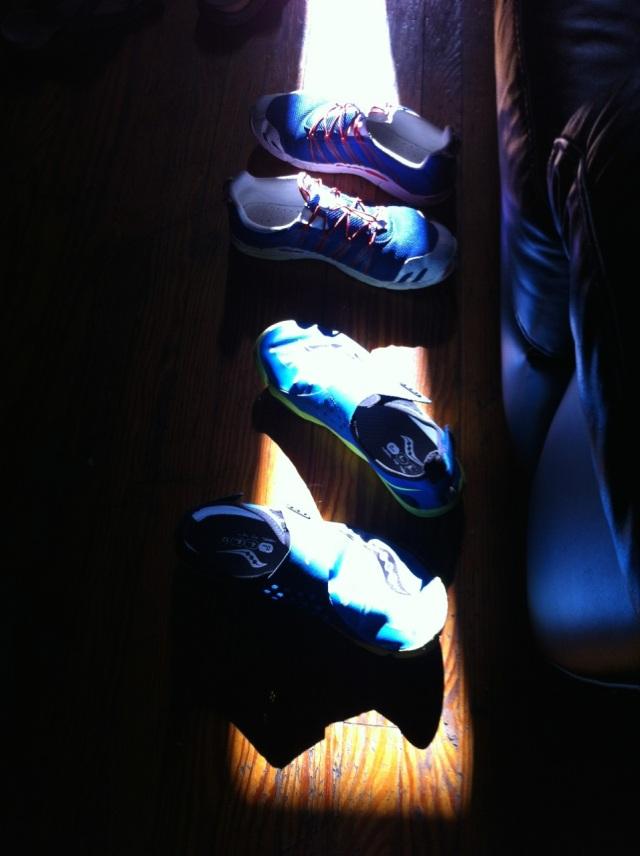Clair obscur de chaussures