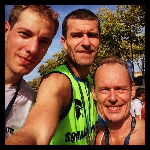 Alex, Christophe et moi : 3:28 au total :-)