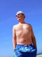 Bien au delà des 25% de masse grasse mais faisant semblant de ne pas le voir. Après tout, à 45 balais c'est acceptable ...