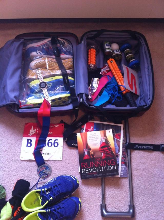 Une vraie valise de coureur ...
