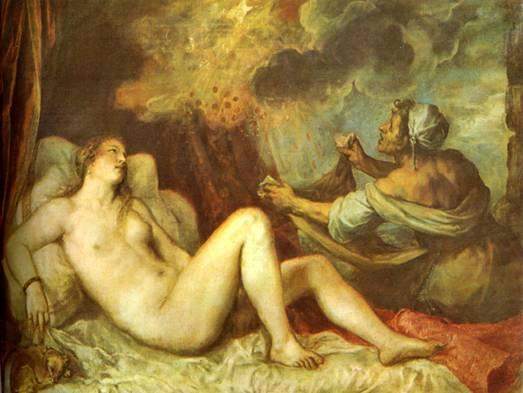 Une fécondation divine (Zeus et Diane)