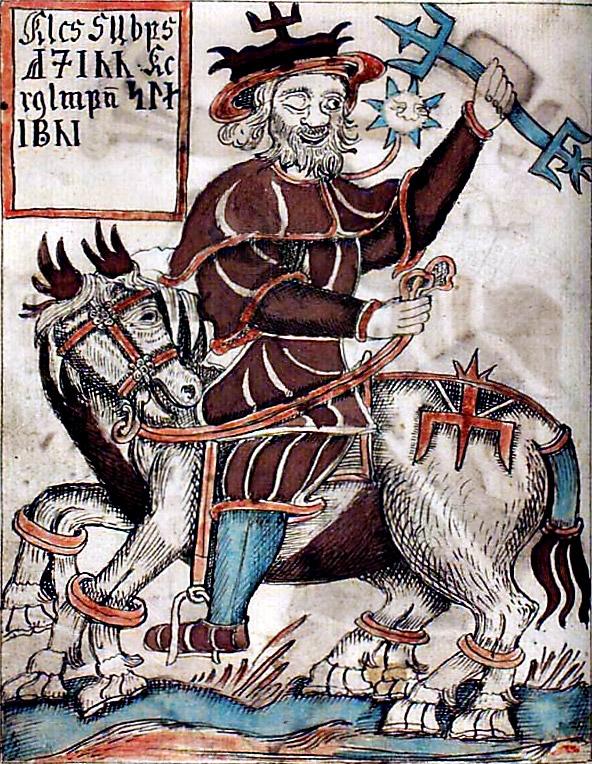 Odin sur son traineau