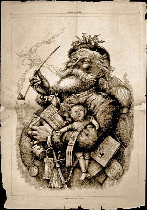Un des premiers dessins de Santa Claus
