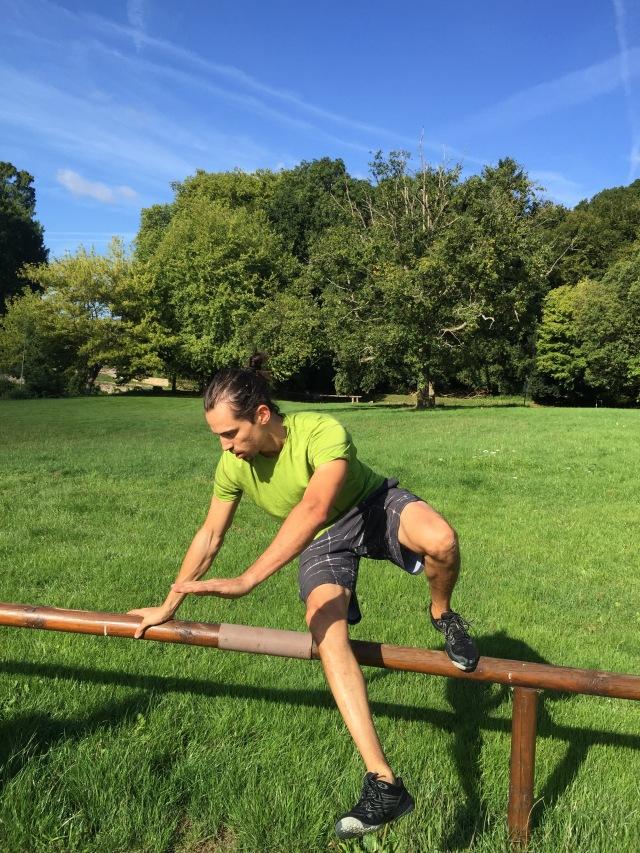 Tripod pour passer un obstacle : démo de Guillaume